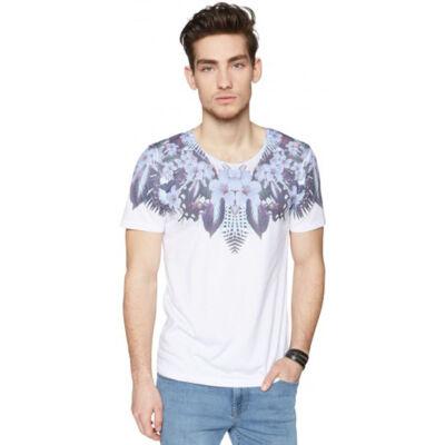 Tom Tailor 1030792 03 12 2000 Mintás fehér férfi póló