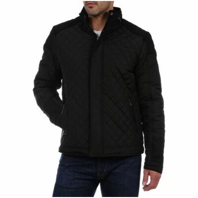 No Excess 82 630805 020 fekete steppelt kabát