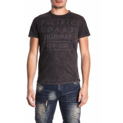 No Excess 76 350326 021 Szürkés-fekete színű férfi póló