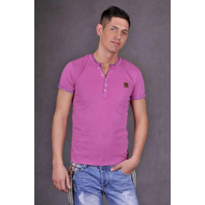No Excess 64 032020 87 pink gombos nyakú férfi póló