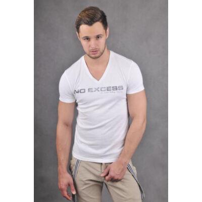 No Excess 64 0340320 fehér férfi póló