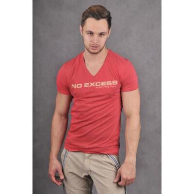No Excess 64 0340320 piros férfi póló