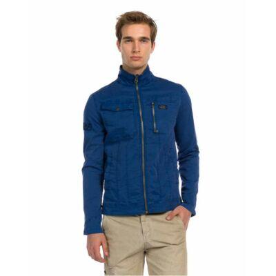 Devergo 1D913001KA6106 46 Férfi kék vászon átmeneti dzseki