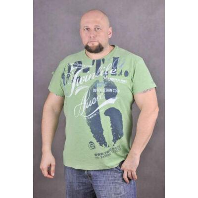 TwinLife Férfi zöld pólók