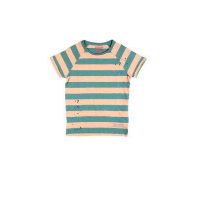 Devergo' 1d414014SS3804 hátul mintás férfi póló