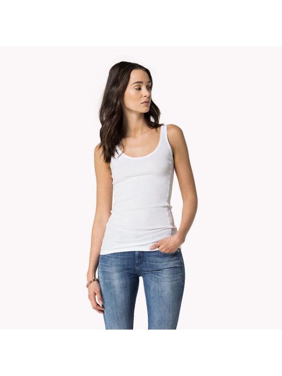 Tommy Hilfiger Női fehér felsők, blúzok és trikók