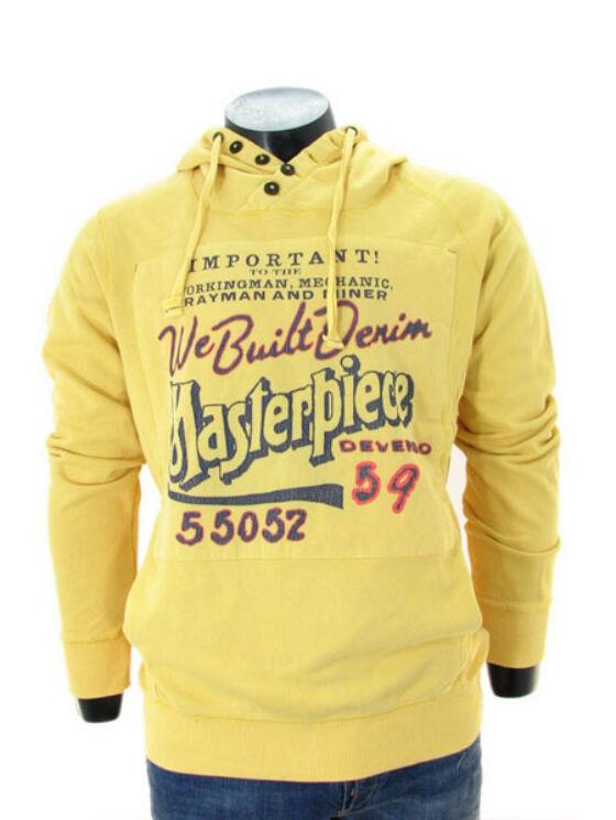 Devergo Férfi sárga pulóverek