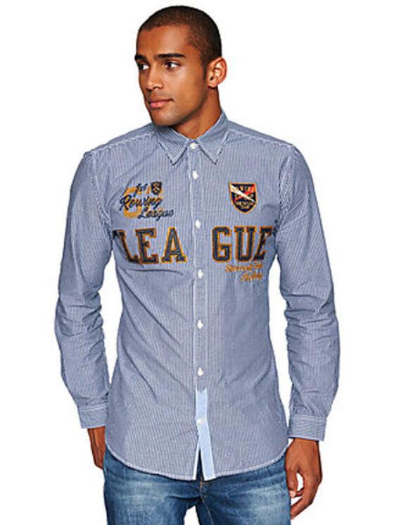 Tom Tailor Férfi kék ingek