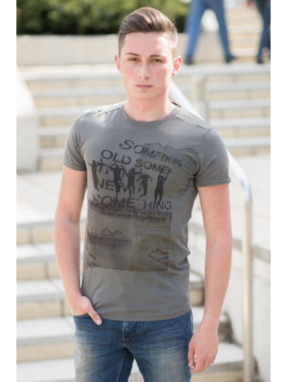 No Excess Férfi sötétszürke pólók