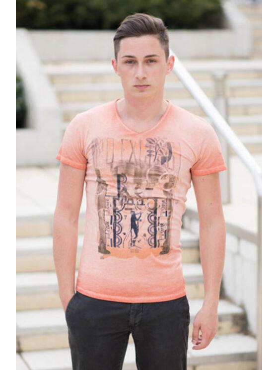 No Excess Férfi narancssárga pólók