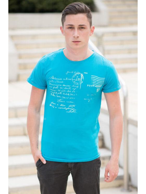 No Excess Férfi kék pólók