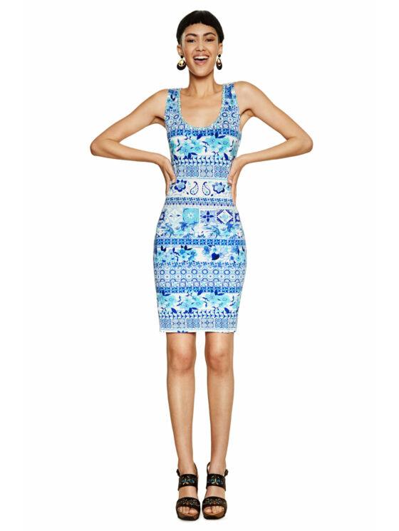 Desigual Női kék ruhák, tunikák és overálok