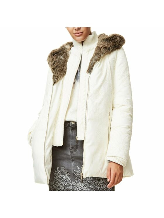 Desigual Női fehér télikabátok