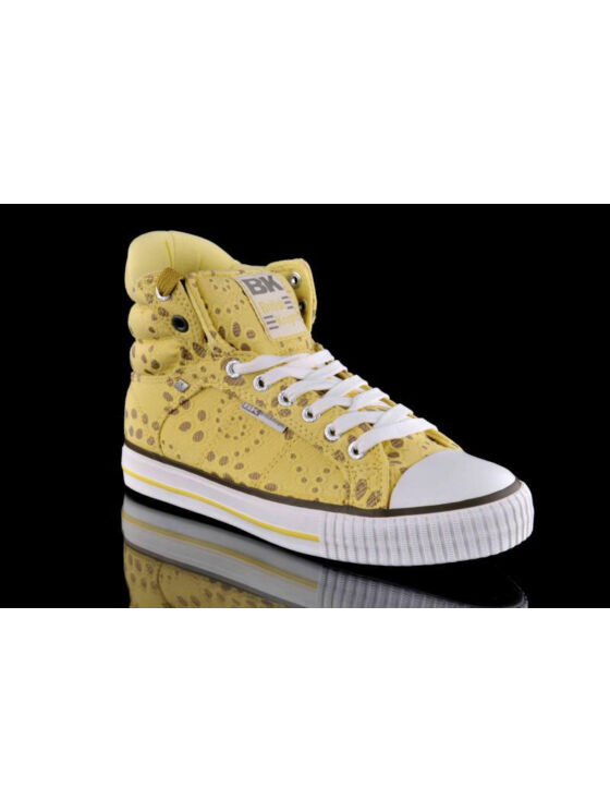BK Női sárga utcai cipők