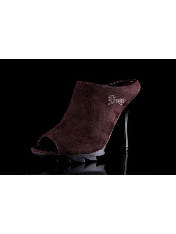 Devergo Női barna magassarkú cipők
