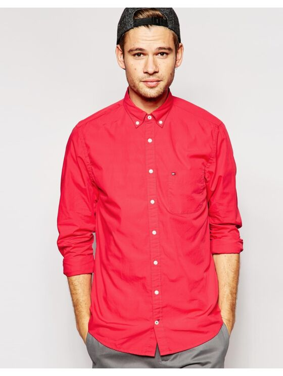 Tommy Hilfiger Férfi piros ingek