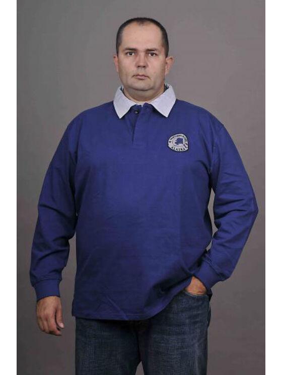 Kitaro Férfi kék hosszú ujjú pólók