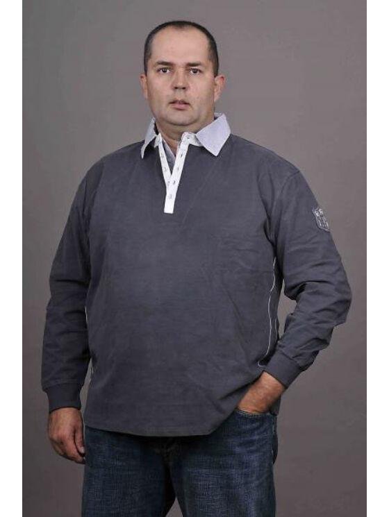 Kitaro Férfi sötétszürke hosszú ujjú pólók