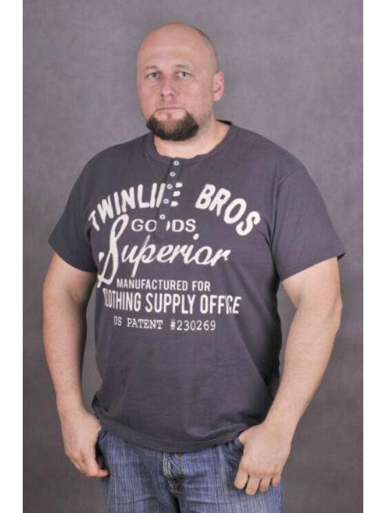 TwinLife Férfi barna pólók