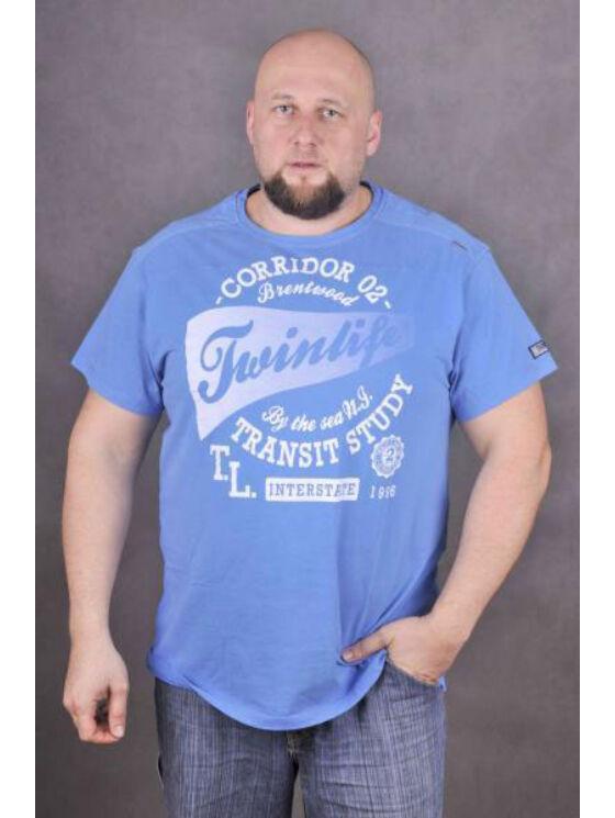 TwinLife Férfi kék pólók